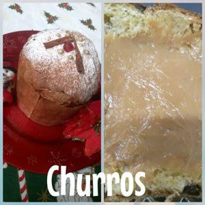 Chocotone com Cobertura e Recheio Churros